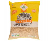 24 Mantra Sonamasuri Semi Brown Rice (Hand Pounded) 500gm