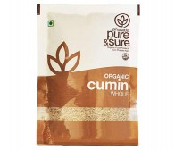 Pure and Sure Organic Cumin Whole /Seerakam 100gm