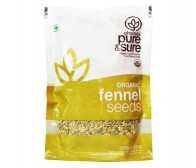Pure and Sure Organic Fennel Seeds/Sombu 100gm