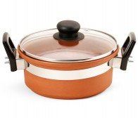 Terracotta Cooking Pan with Lid